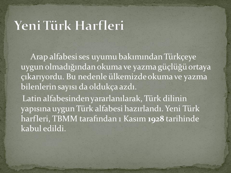 Yeni Türk Harfleri