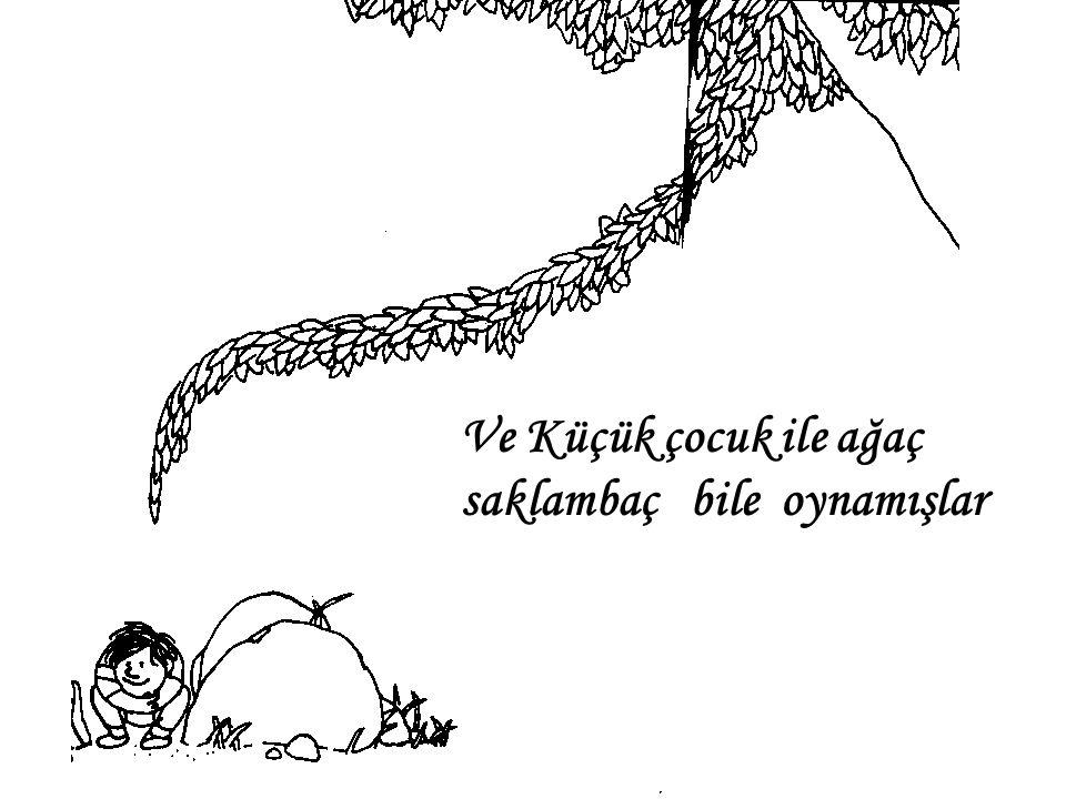 Ve Küçük çocuk ile ağaç saklambaç bile oynamışlar