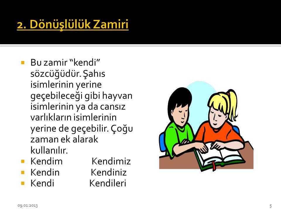 2. Dönüşlülük Zamiri