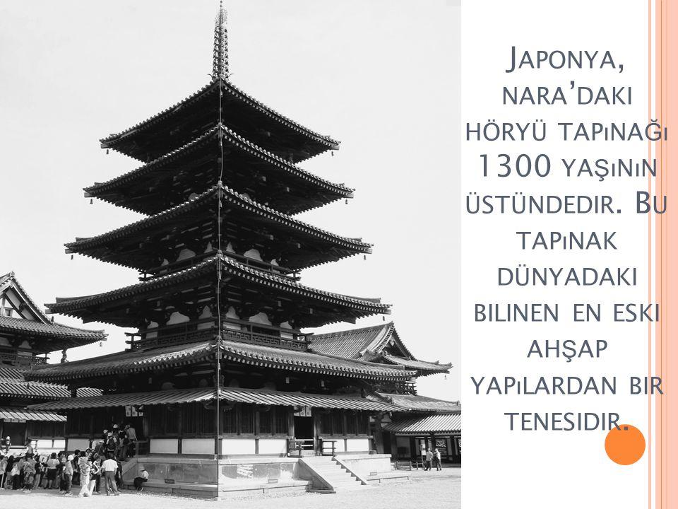 Japonya, nara'daki höryü tapınağı 1300 yaşının üstündedir