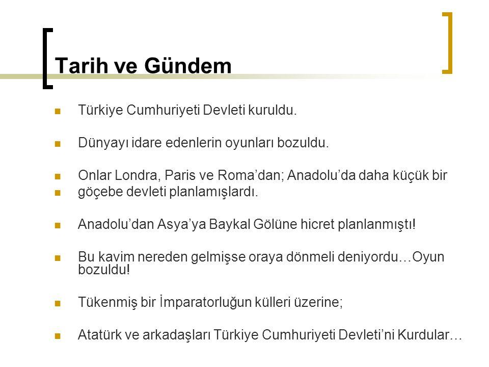 Tarih ve Gündem Türkiye Cumhuriyeti Devleti kuruldu.