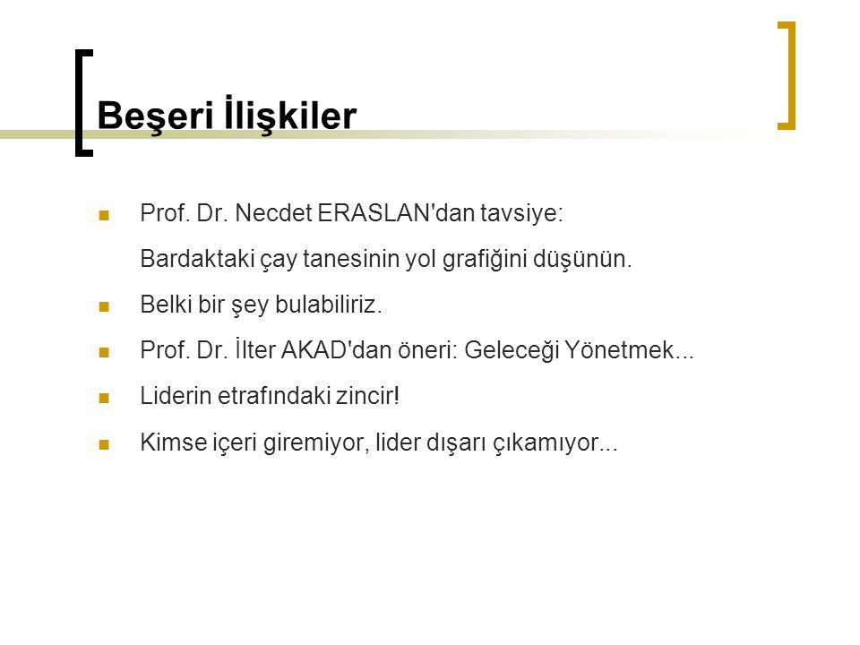 Beşeri İlişkiler Prof. Dr. Necdet ERASLAN dan tavsiye: