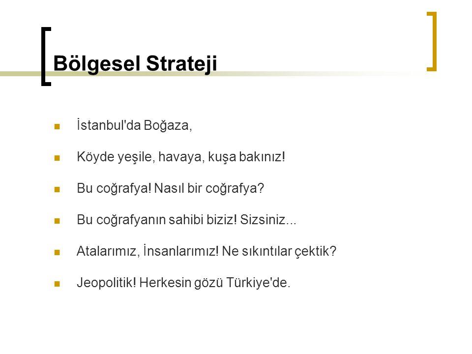Bölgesel Strateji İstanbul da Boğaza,