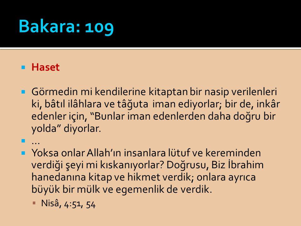Bakara: 109 Haset.
