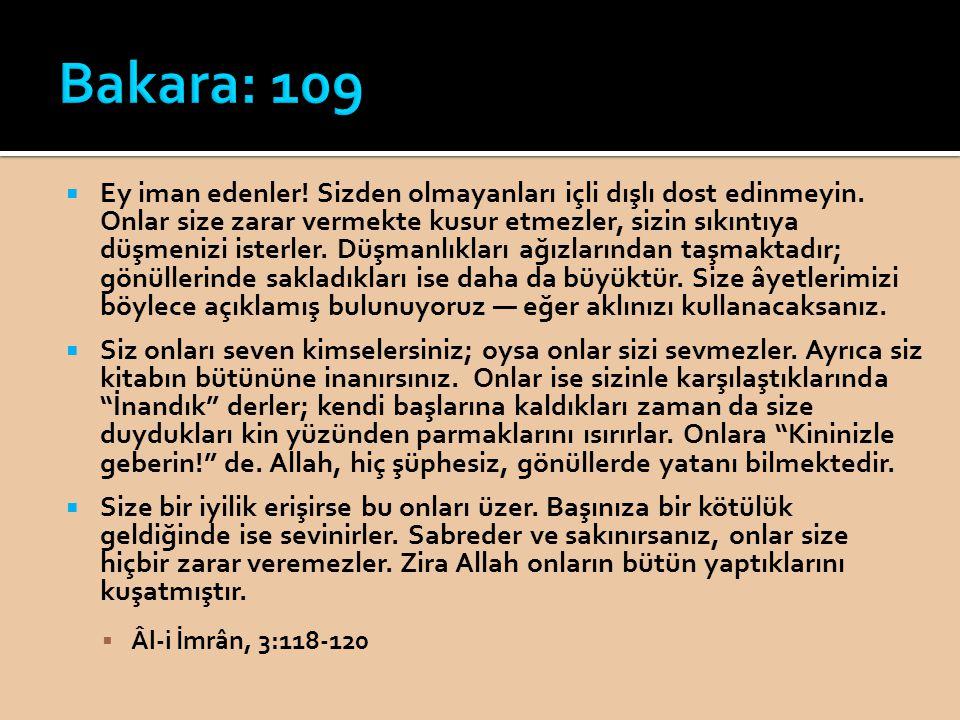 Bakara: 109