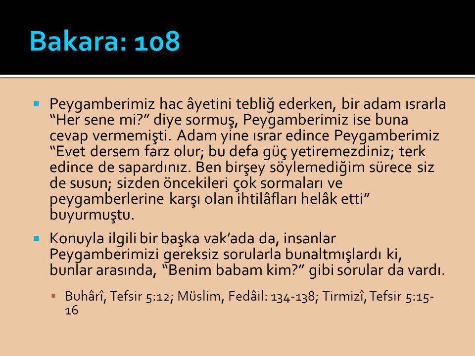 Bakara: 108