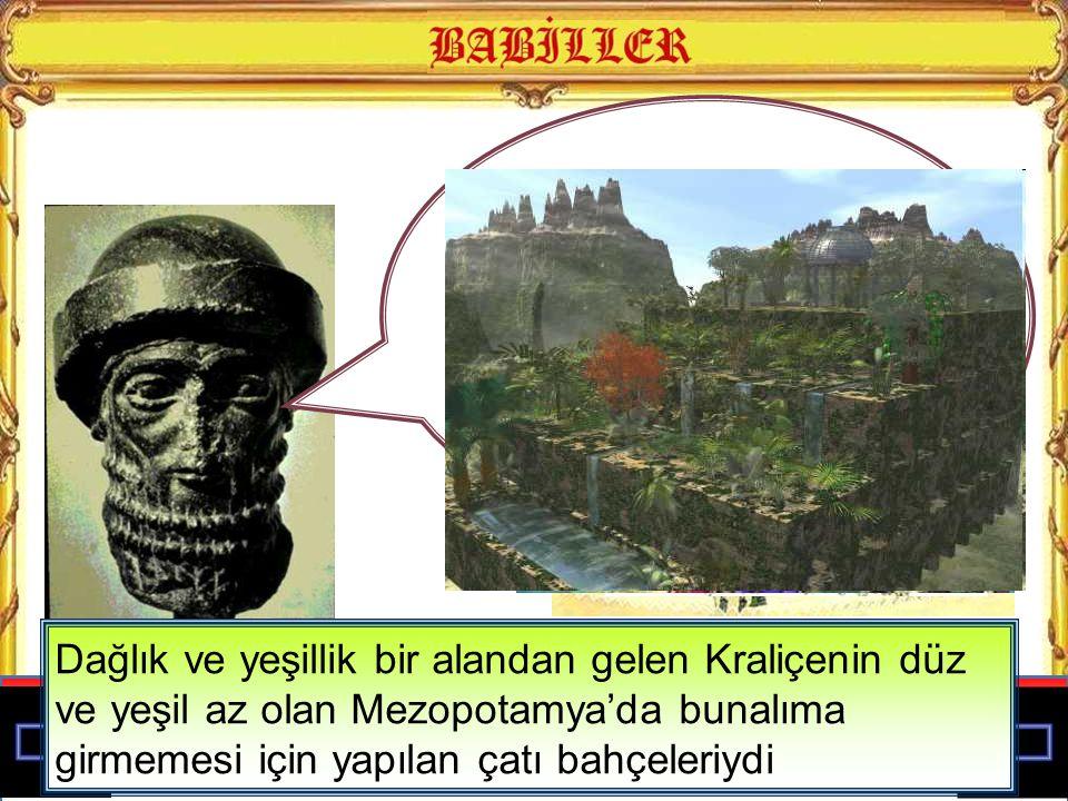 Dünyanın 7 harikasından biri sayılan Babil Asma Bahçelerini yaptık
