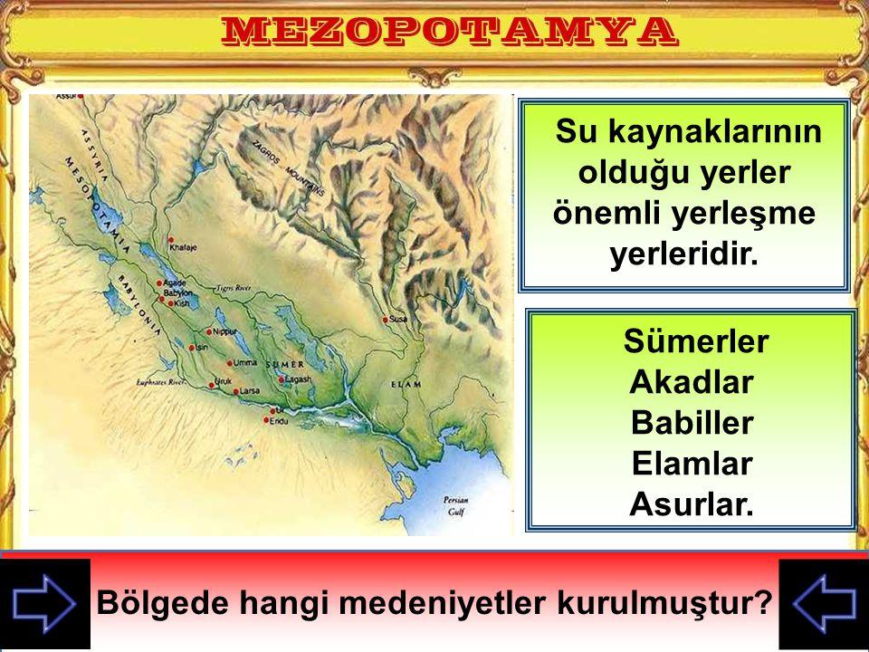 Su kaynaklarının olduğu yerler önemli yerleşme yerleridir.