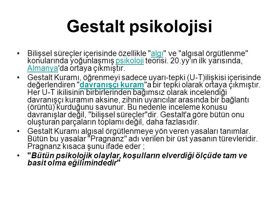 Gestalt psikolojisi