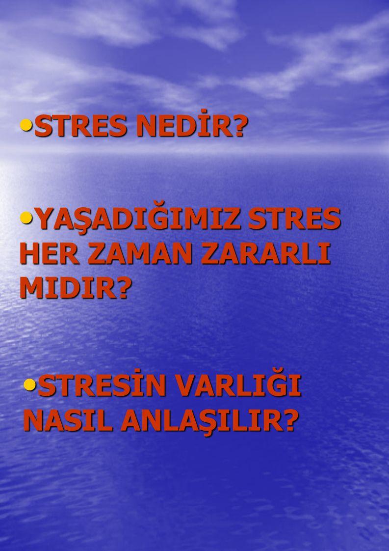 STRES NEDİR YAŞADIĞIMIZ STRES HER ZAMAN ZARARLI MIDIR STRESİN VARLIĞI NASIL ANLAŞILIR
