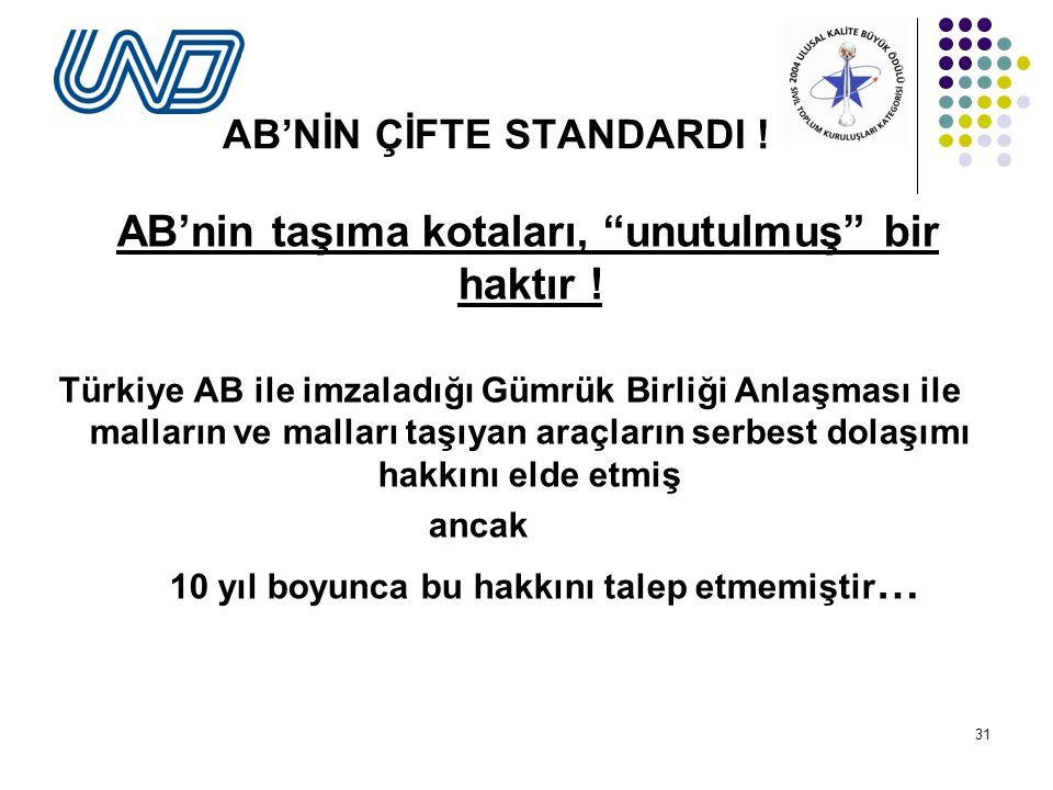 AB'NİN ÇİFTE STANDARDI !