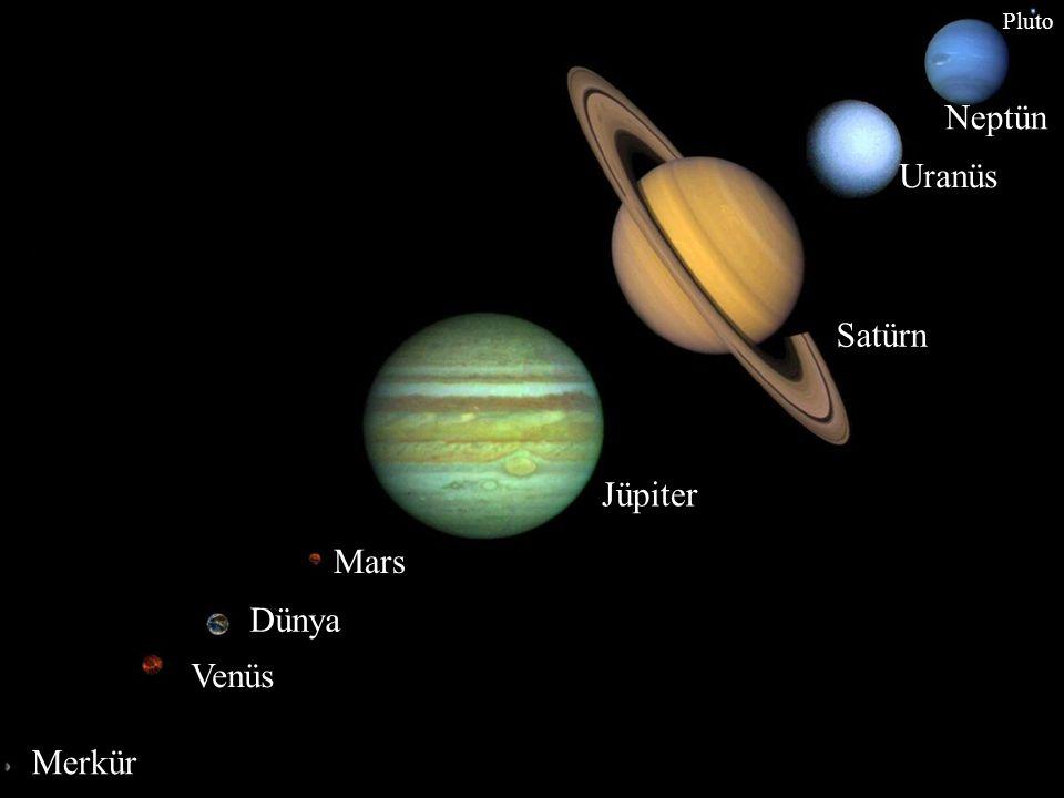 Pluto Neptün Uranüs Satürn Jüpiter Mars Dünya Venüs Merkür