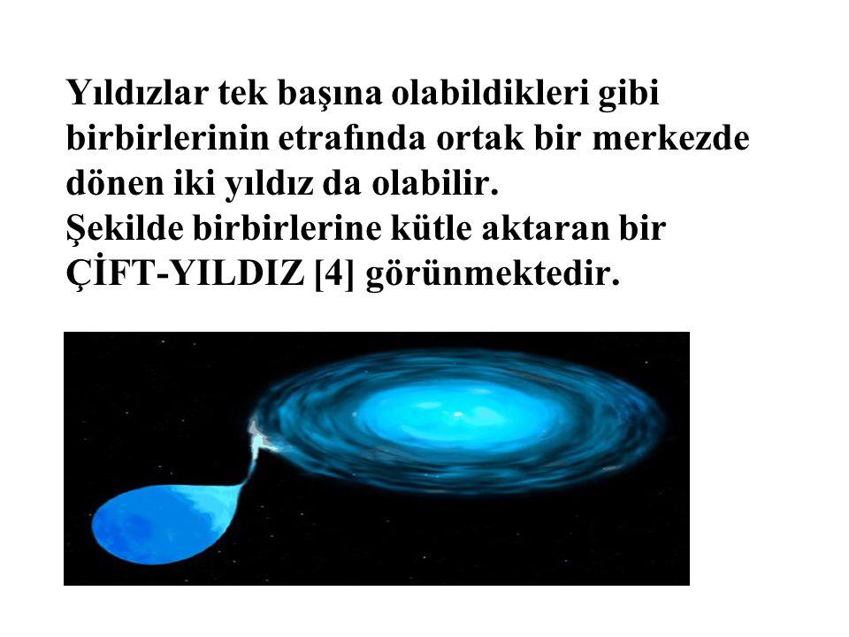 Yıldızlar tek başına olabildikleri gibi birbirlerinin etrafında ortak bir merkezde dönen iki yıldız da olabilir.
