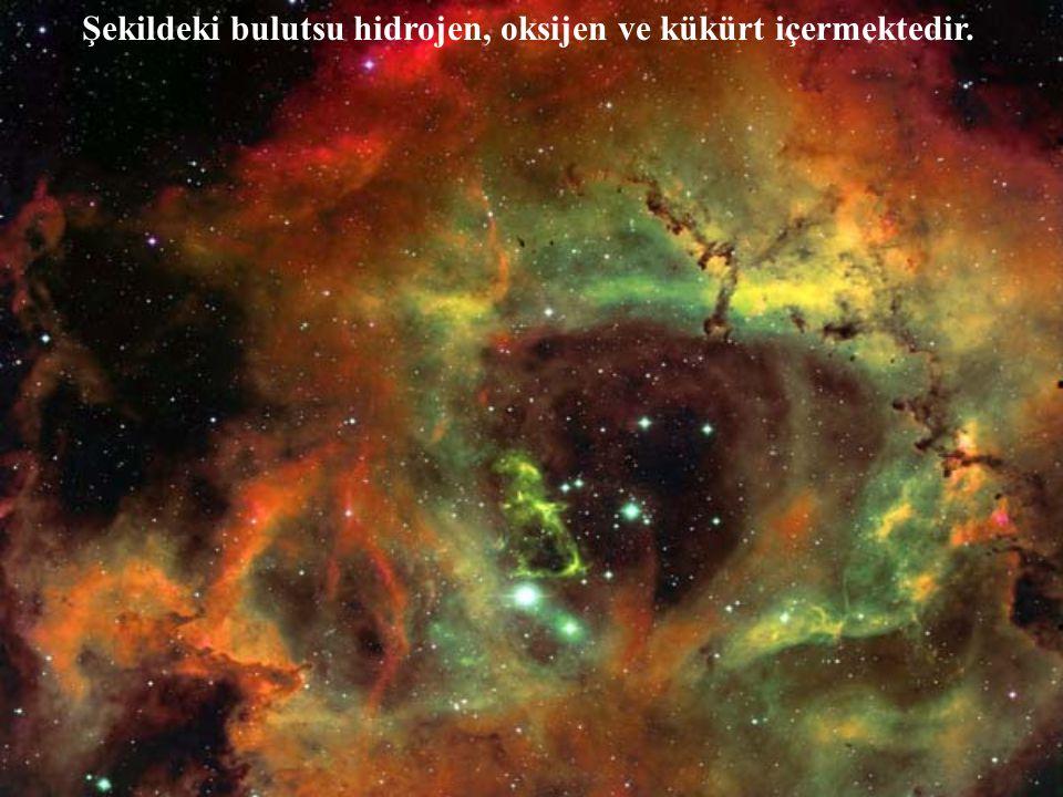 Şekildeki bulutsu hidrojen, oksijen ve kükürt içermektedir.