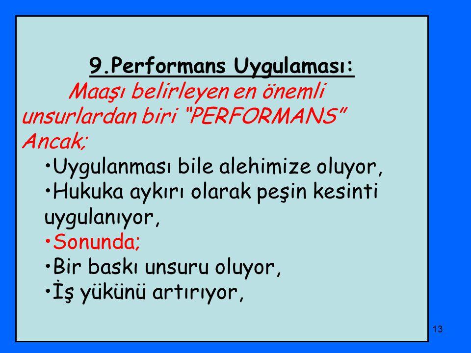 9.Performans Uygulaması:
