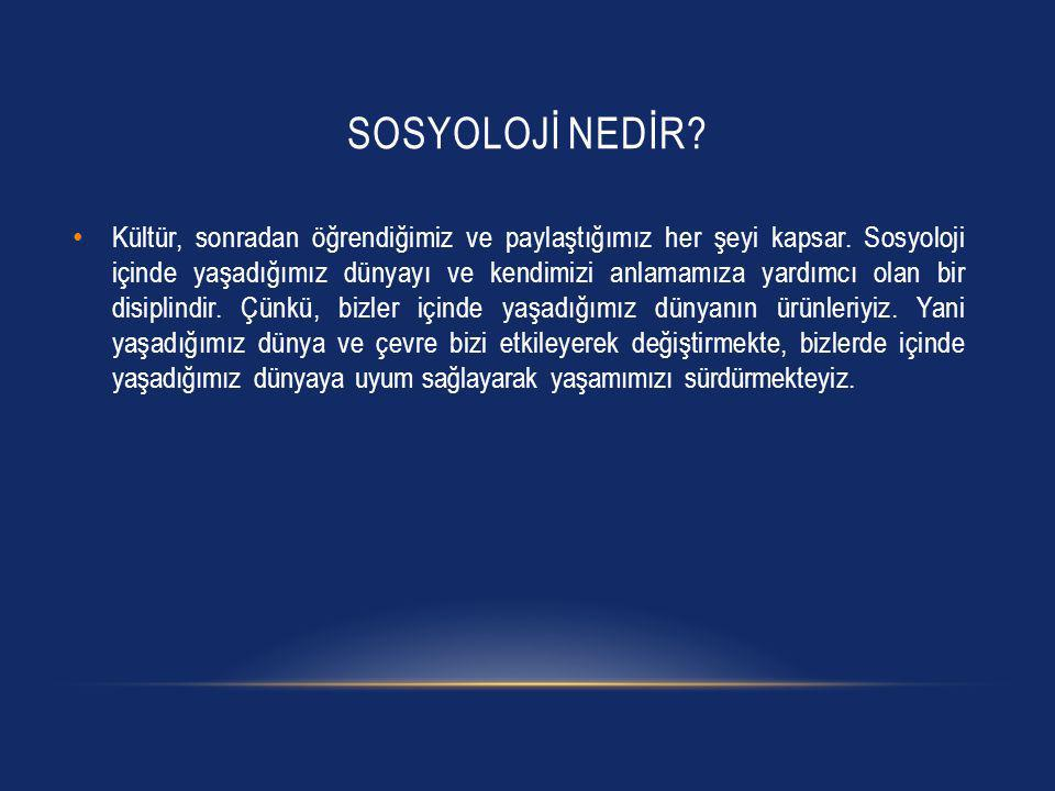 Sosyolojİ nedİr