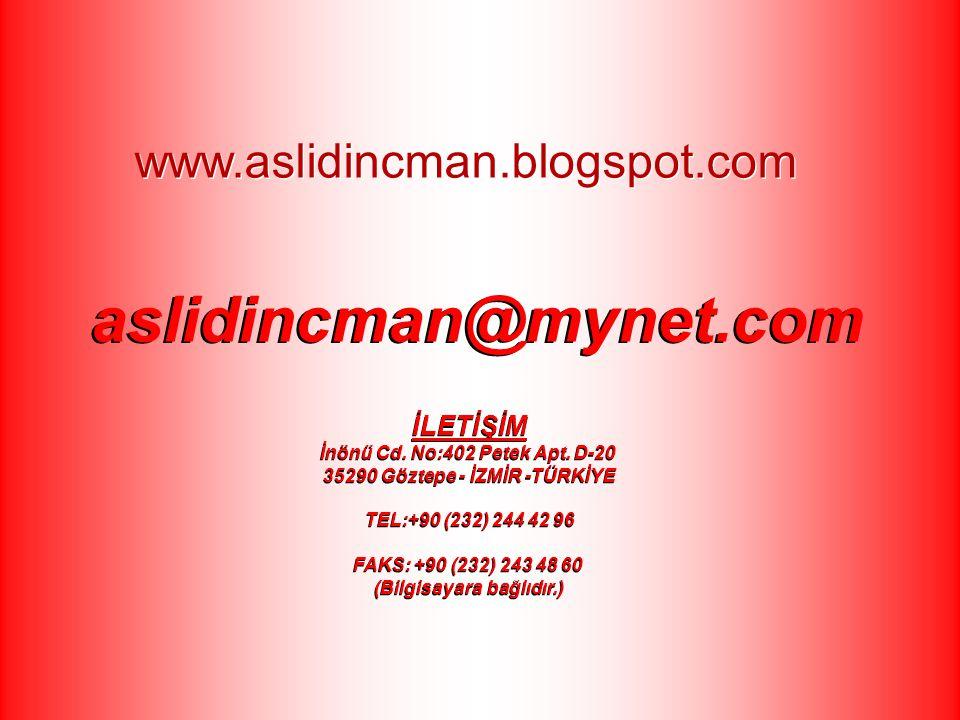 aslidincman@mynet.com www.aslidincman.blogspot.com İLETİŞİM