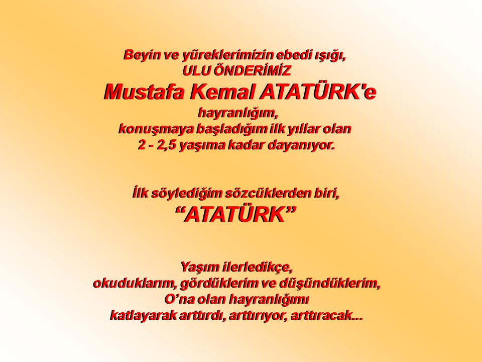Mustafa Kemal ATATÜRK e ATATÜRK