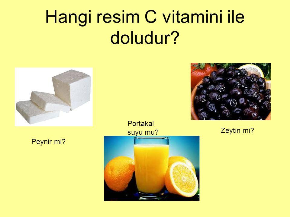 Hangi resim C vitamini ile doludur