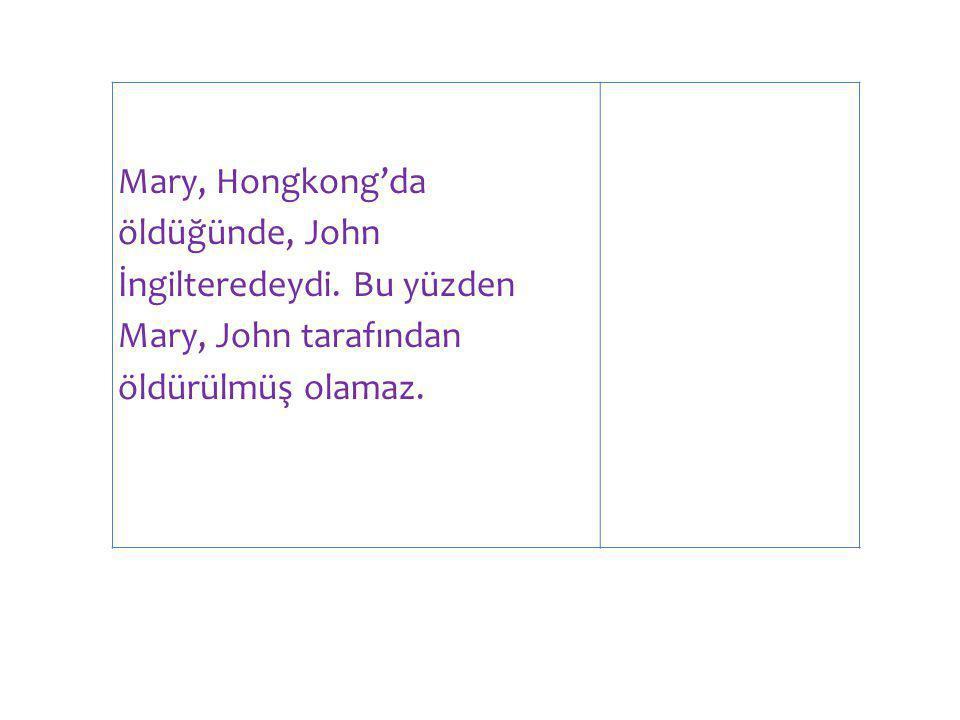 Mary, Hongkong'da öldüğünde, John İngilteredeydi