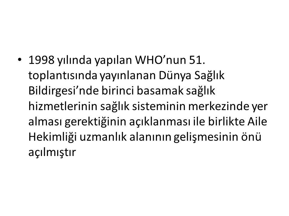 1998 yılında yapılan WHO'nun 51