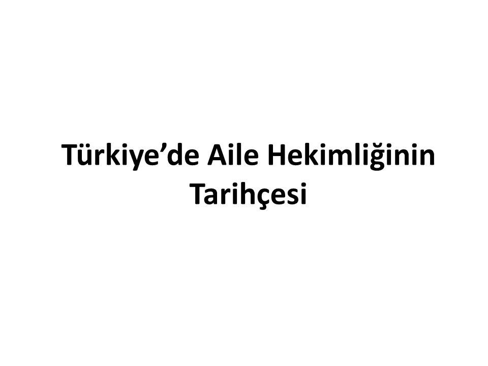 Türkiye'de Aile Hekimliğinin Tarihçesi