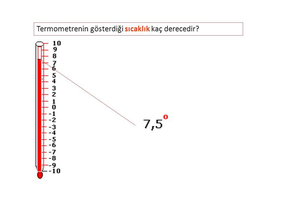 Termometrenin gösterdiği sıcaklık kaç derecedir