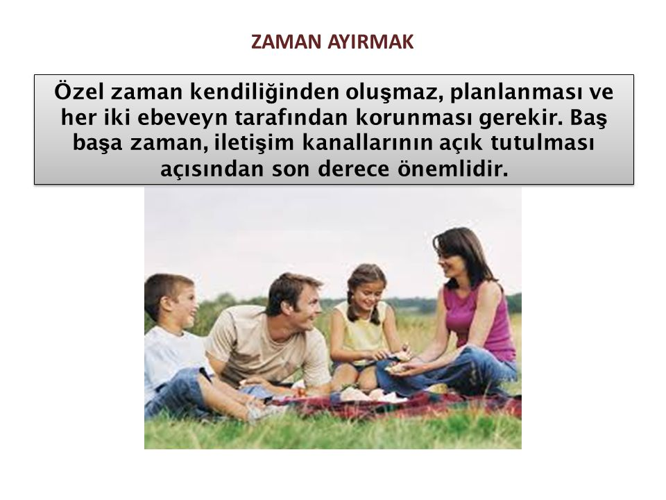 ZAMAN AYIRMAK