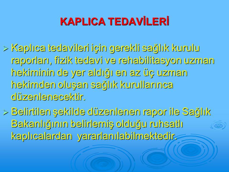 KAPLICA TEDAVİLERİ