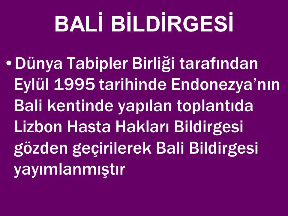 BALİ BİLDİRGESİ