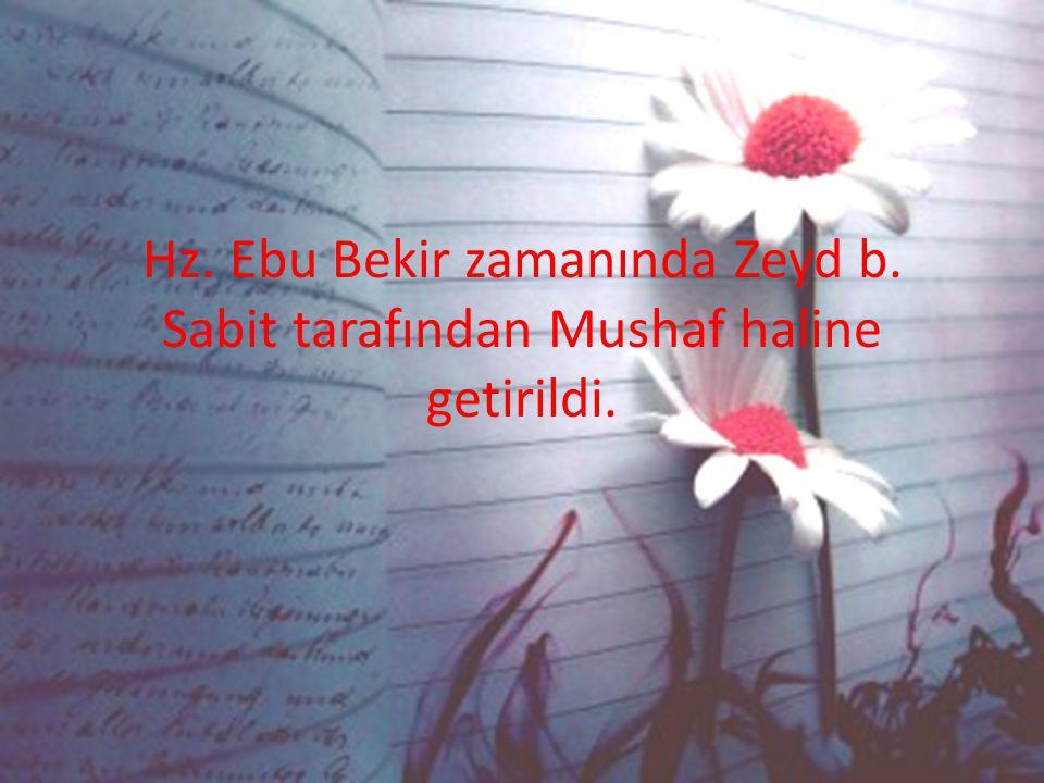 Hz. Ebu Bekir zamanında Zeyd b