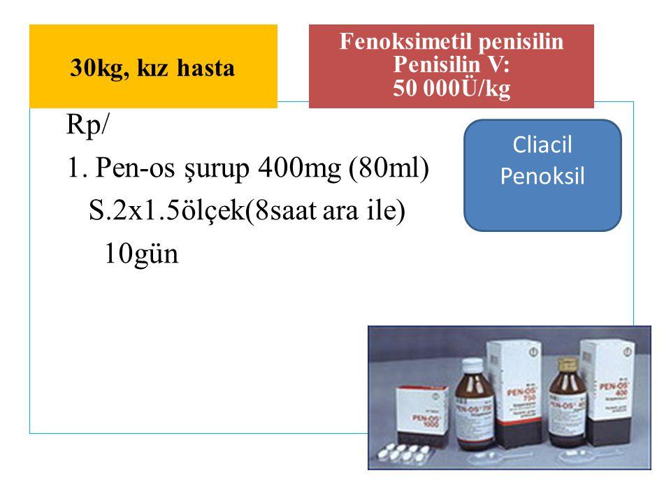 Fenoksimetil penisilin Penisilin V: