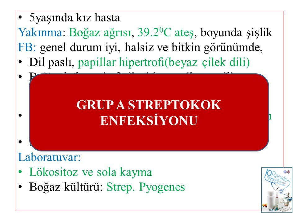 GRUP A STREPTOKOK ENFEKSİYONU