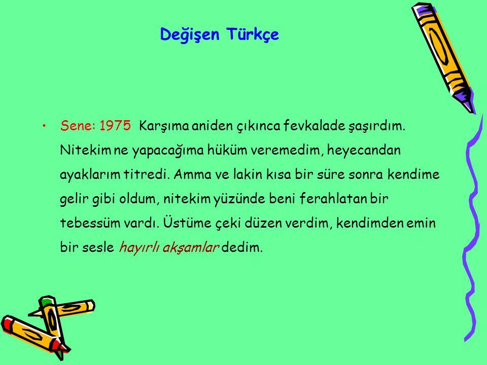 Değişen Türkçe