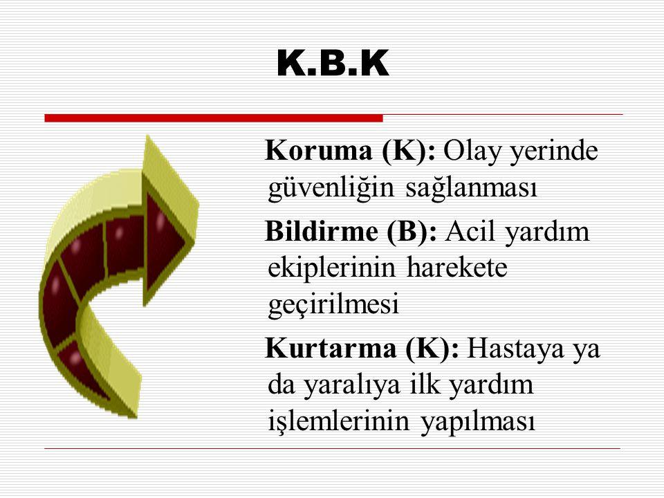 K.B.K Koruma (K): Olay yerinde güvenliğin sağlanması