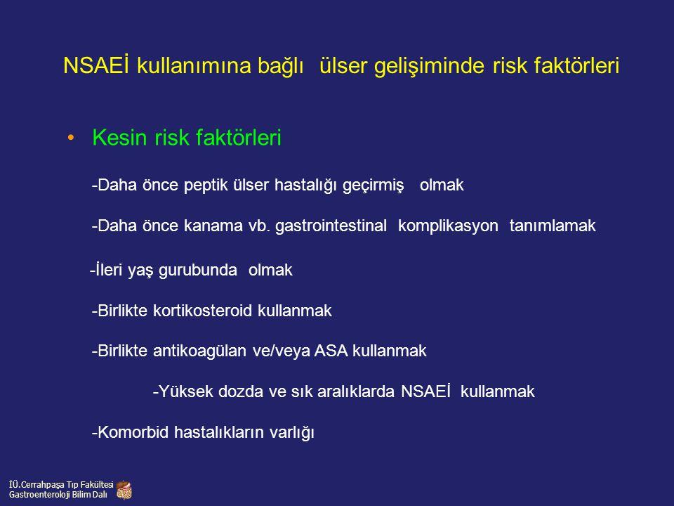 NSAEİ kullanımına bağlı ülser gelişiminde risk faktörleri