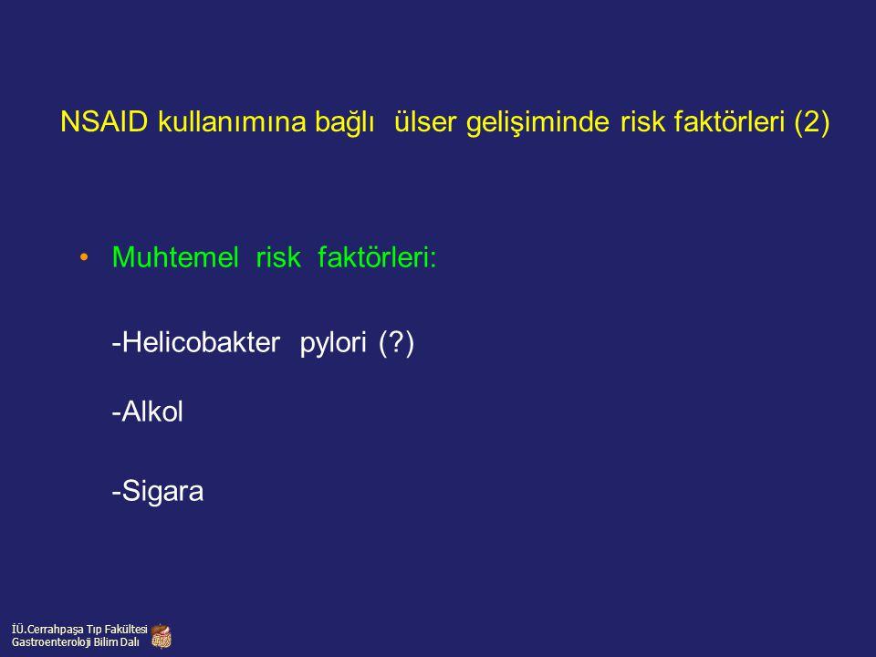 NSAID kullanımına bağlı ülser gelişiminde risk faktörleri (2)