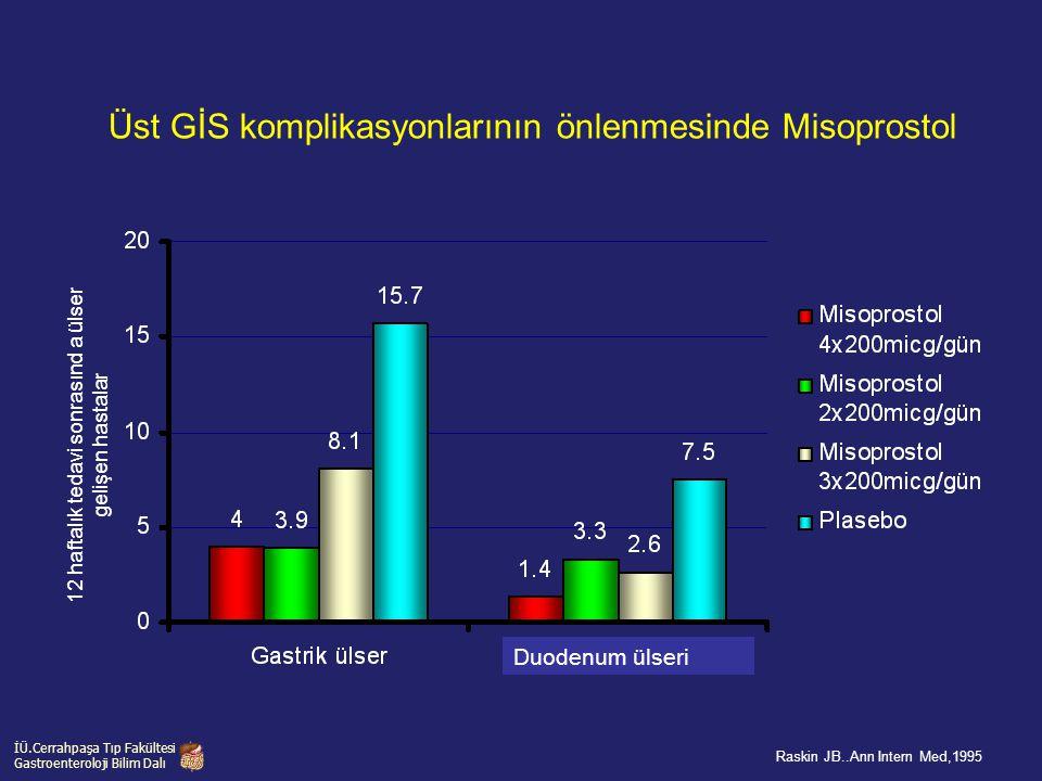 Üst GİS komplikasyonlarının önlenmesinde Misoprostol