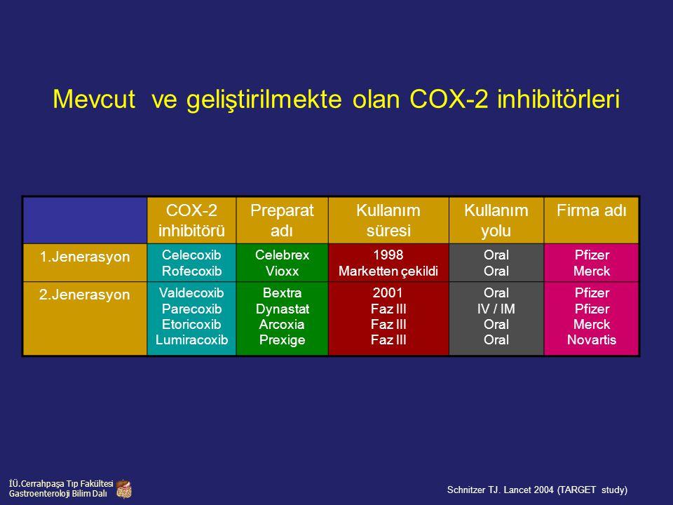 Mevcut ve geliştirilmekte olan COX-2 inhibitörleri