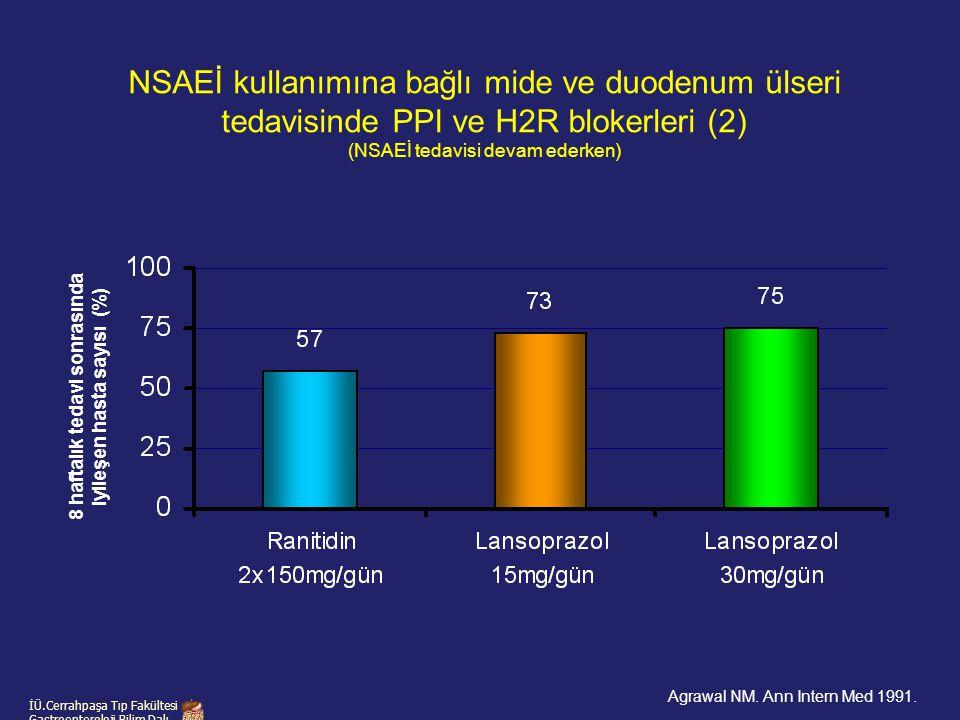 8 haftalık tedavi sonrasında iyileşen hasta sayısı (%)