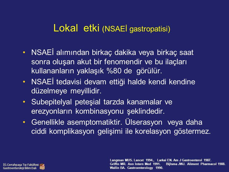 Lokal etki (NSAEİ gastropatisi)