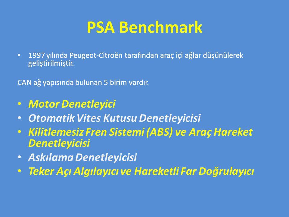 PSA Benchmark Motor Denetleyici Otomatik Vites Kutusu Denetleyicisi