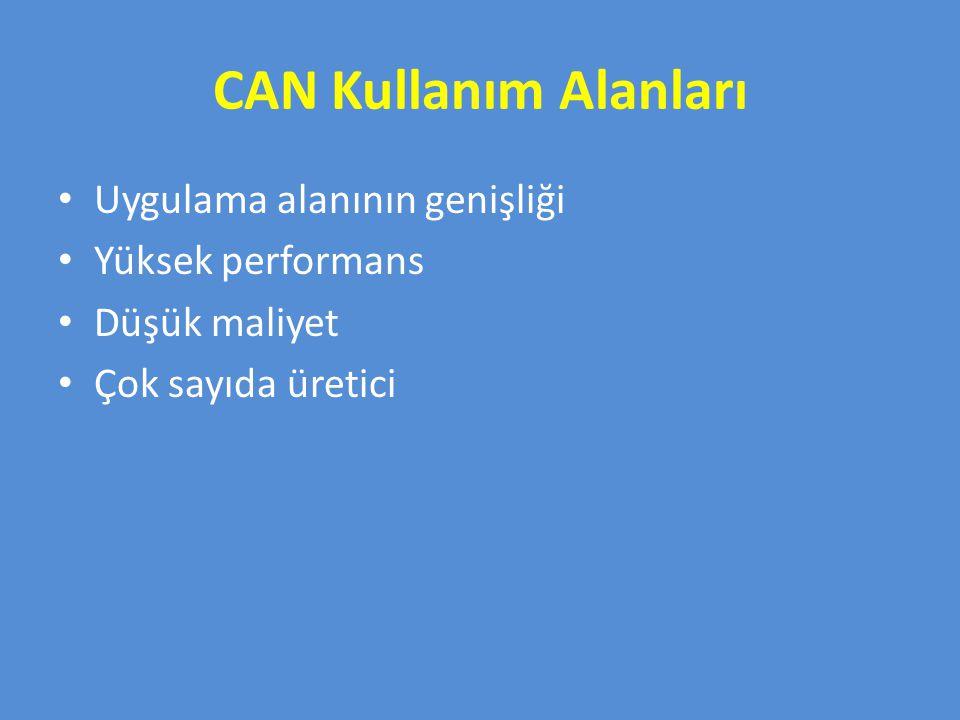 CAN Kullanım Alanları Uygulama alanının genişliği Yüksek performans