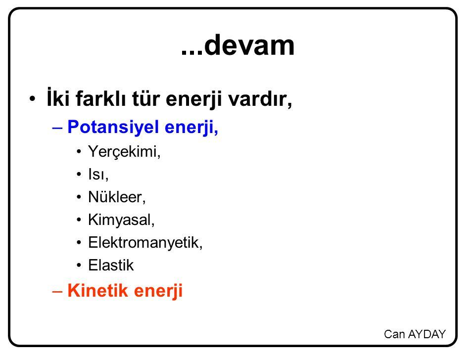 ...devam İki farklı tür enerji vardır, Potansiyel enerji,