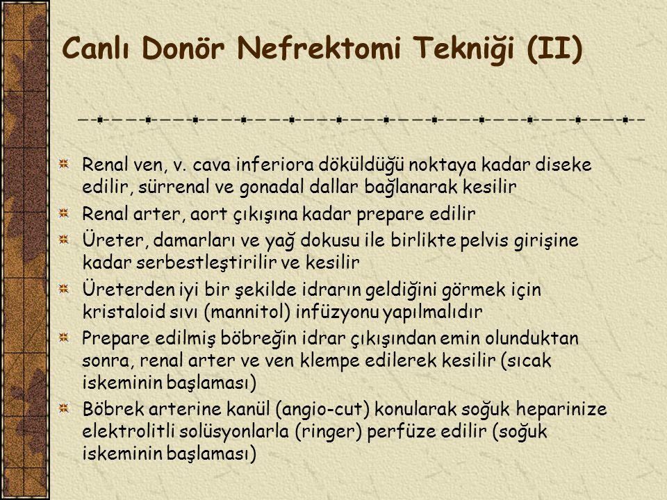 Canlı Donör Nefrektomi Tekniği (II)