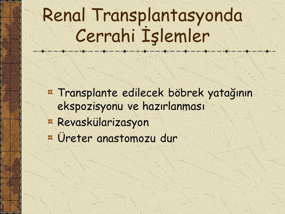 Renal Transplantasyonda Cerrahi İşlemler