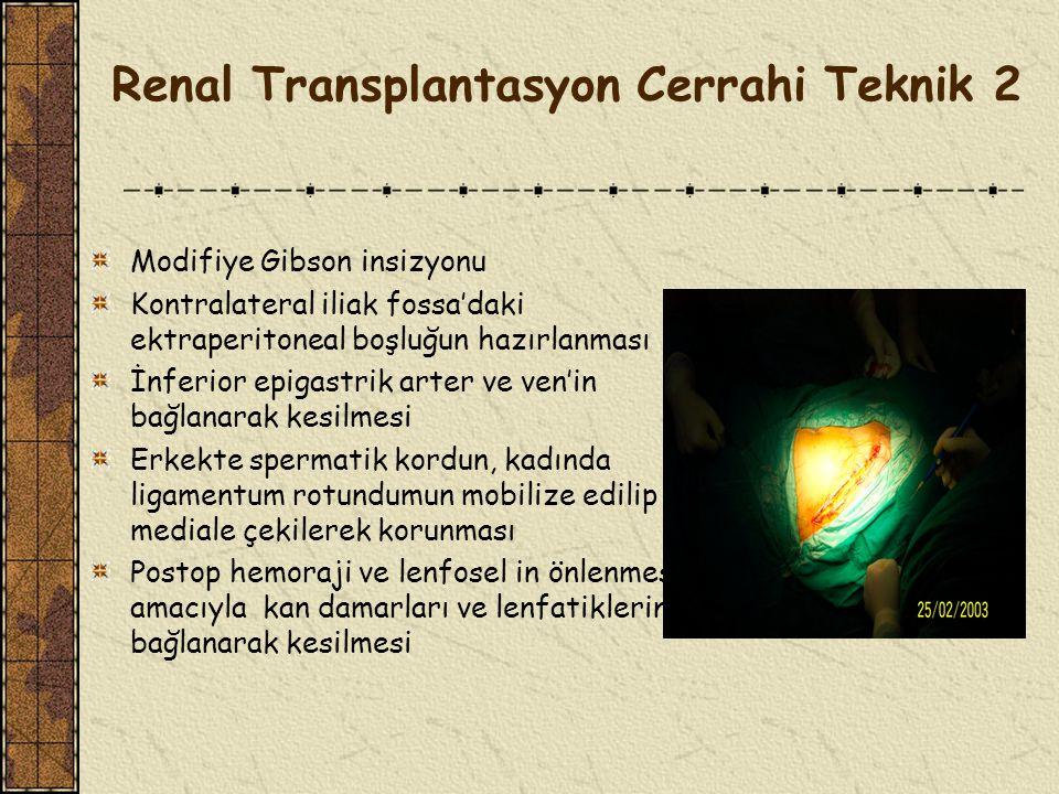 Renal Transplantasyon Cerrahi Teknik 2
