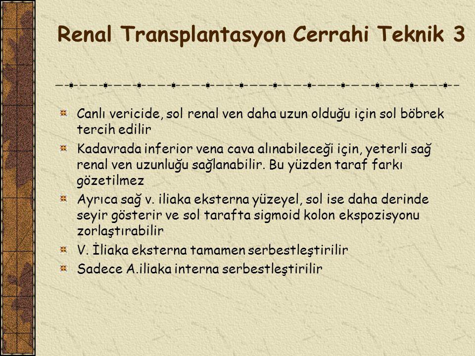 Renal Transplantasyon Cerrahi Teknik 3
