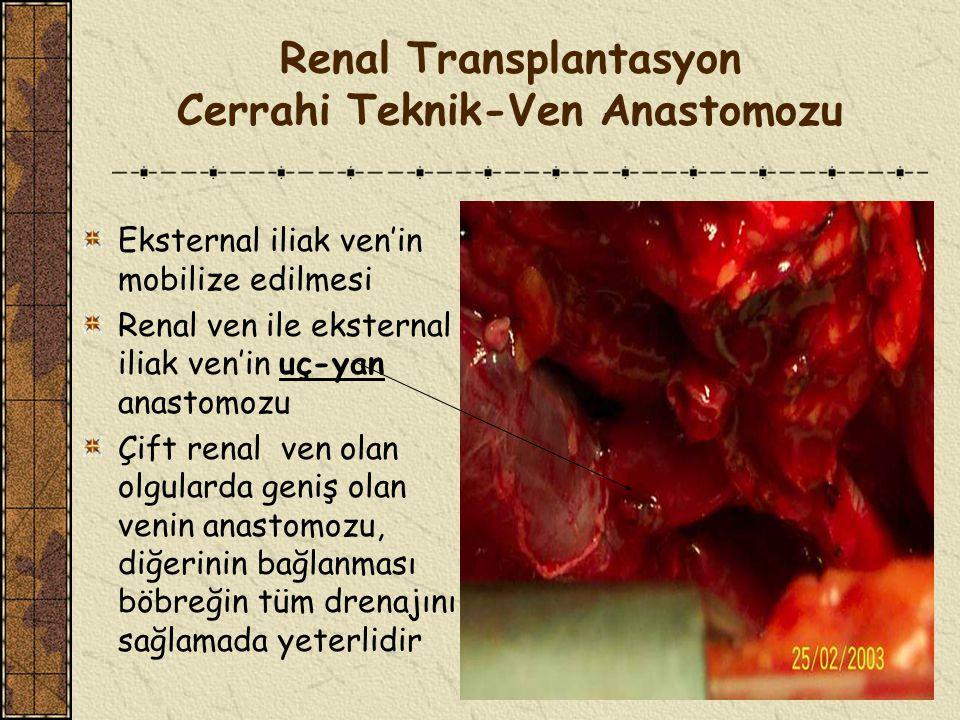 Renal Transplantasyon Cerrahi Teknik-Ven Anastomozu