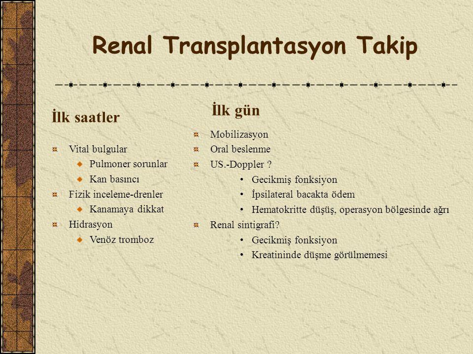 Renal Transplantasyon Takip